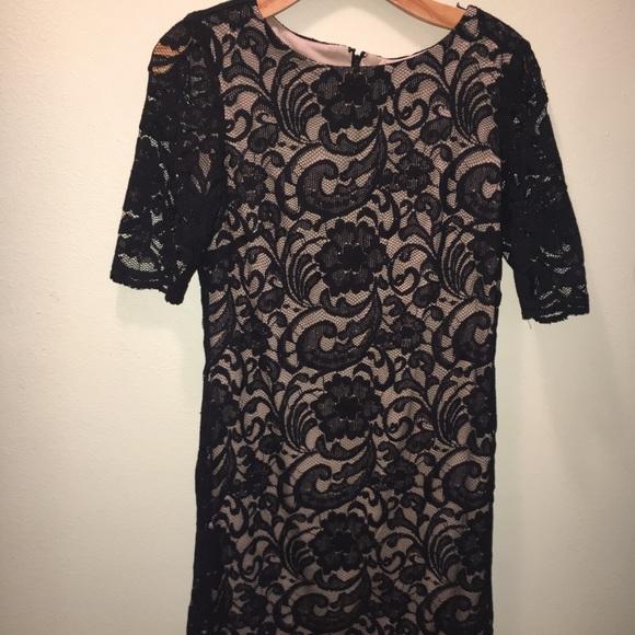 Rk Dresses R K Black Lace Illusion Dress 10 Poshmark